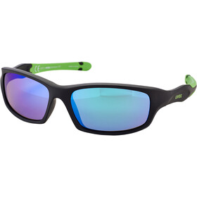 UVEX Sportstyle 507 Glasses Kids black mat green/green
